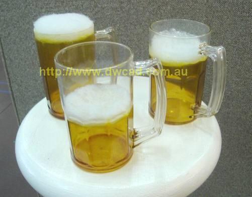 Realistic prop beer mugs