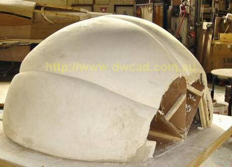 Sculpting large object in plaster