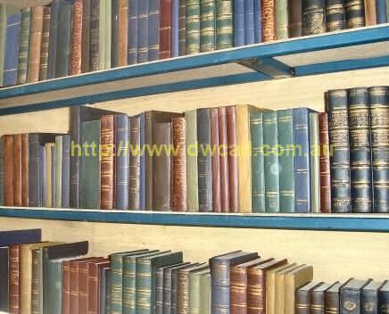 Completed prop bookshelf