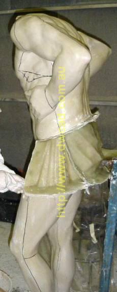 Marking the fibreglass moulds