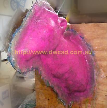 Fibreglass jacket over latex mould