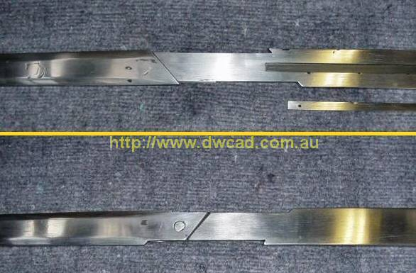 Breakable sword blade break point