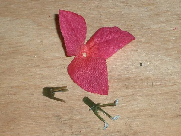 Dismantle silk flower