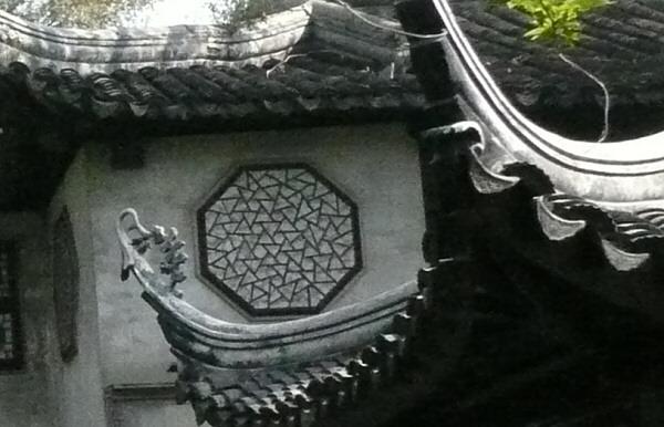 Circular ice ray window in the Lingering Garden, Suzhou
