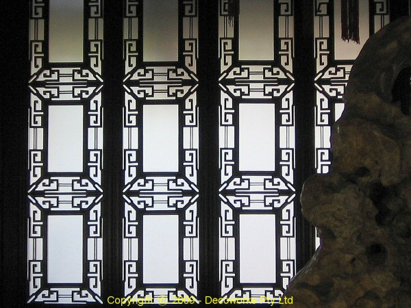 Chinese lattice window