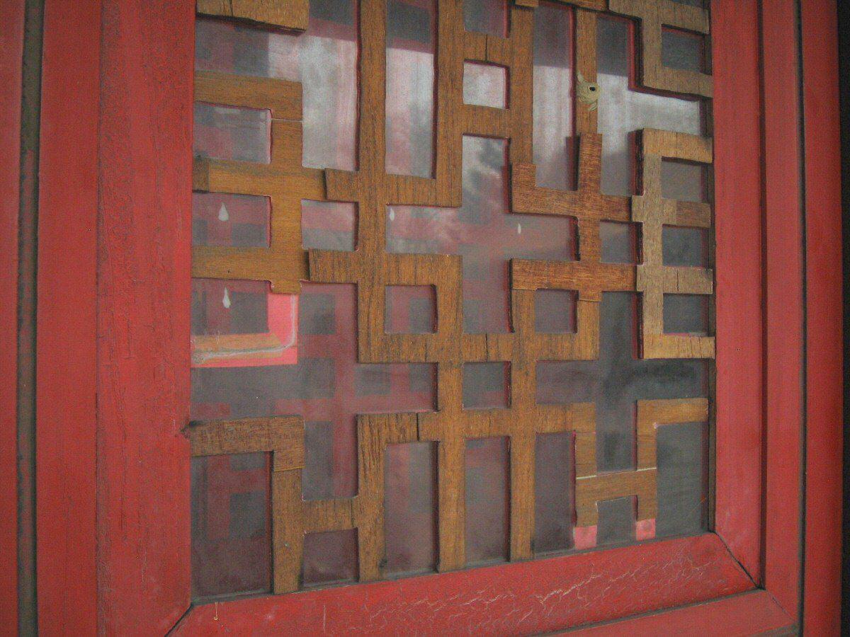 Confucius temple plywood lattice