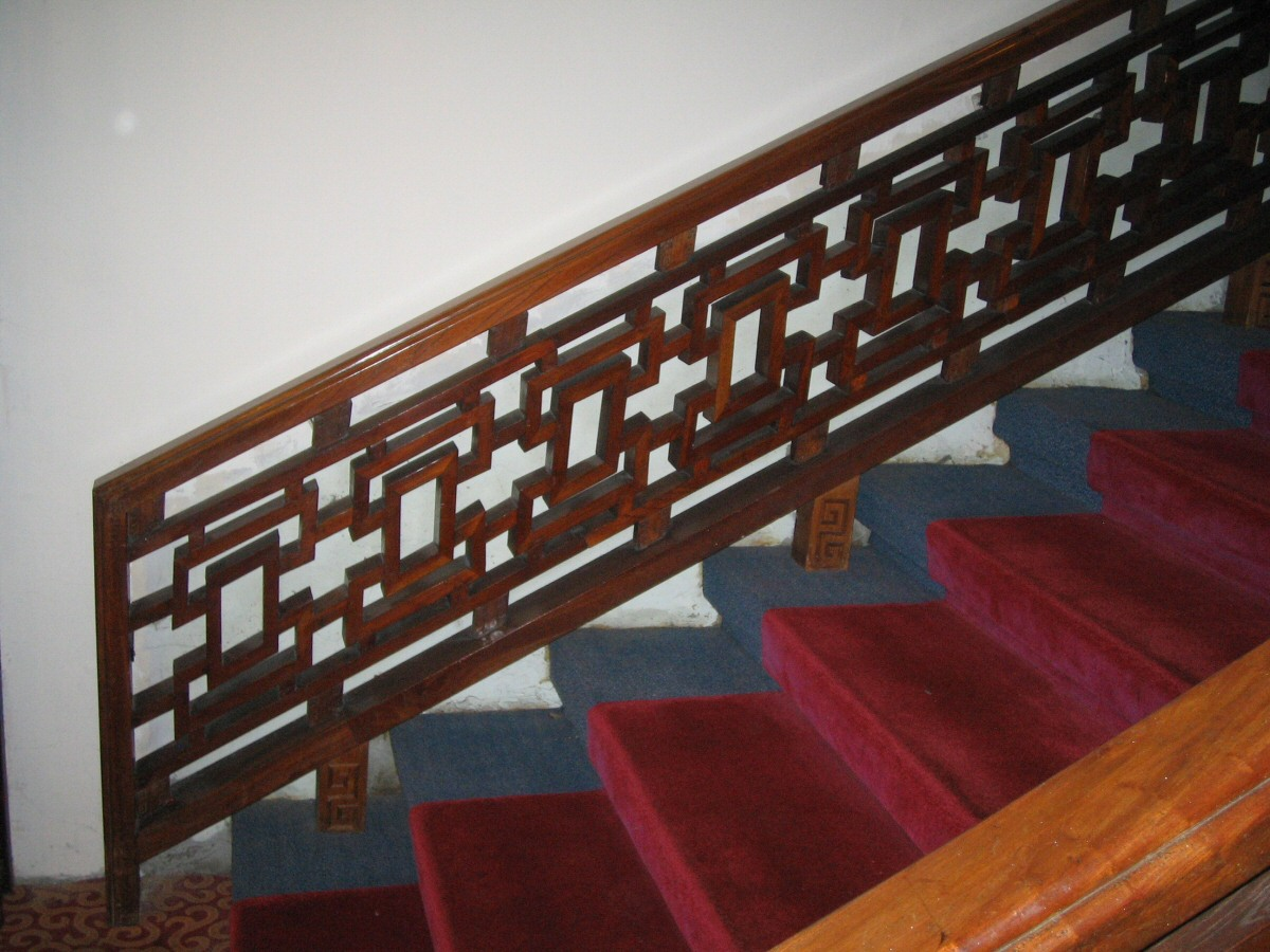 Lattice used on a staircase
