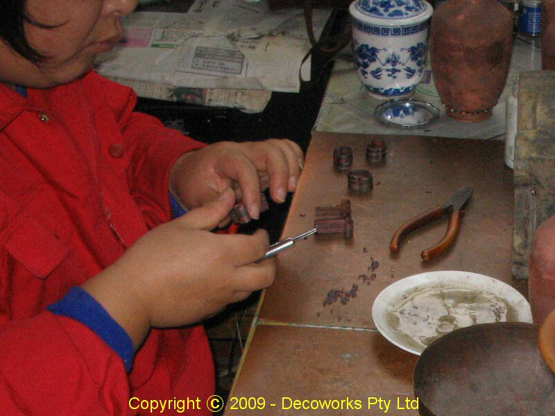 cloisonne enamelware copper strips