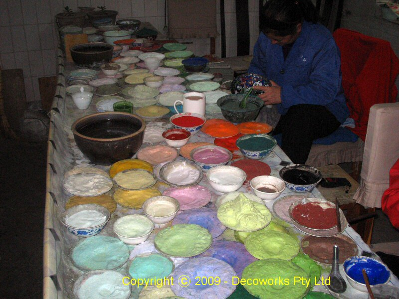 Lots of pigments for the pattern