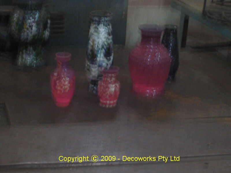 Glowing red hot just out of the kiln