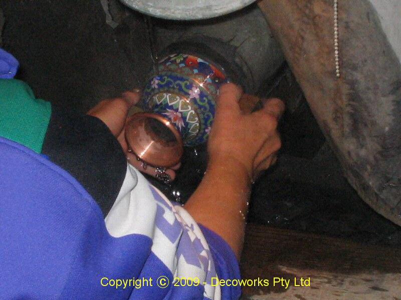 Polishing the vase