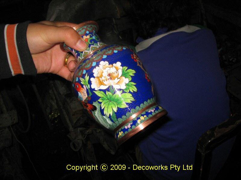 Finished vase ready for gilding