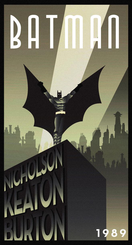 Batman Art Deco poster