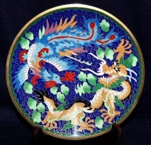 Example of cloisonné enamelware
