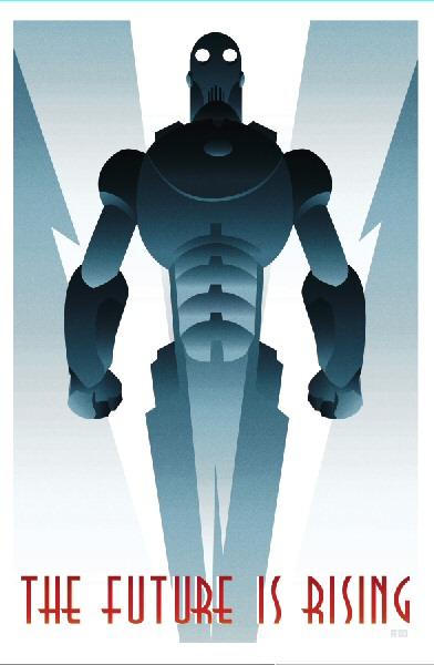 Robot Art Deco poster
