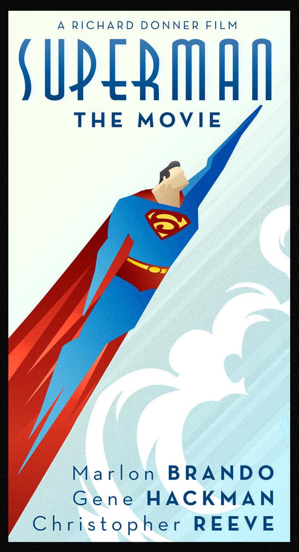 Superman Art Deco poster
