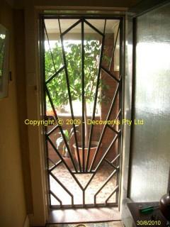 Silhouette of Art Deco security door