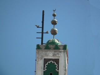 3 sphere minaret jamour with crescent moon
