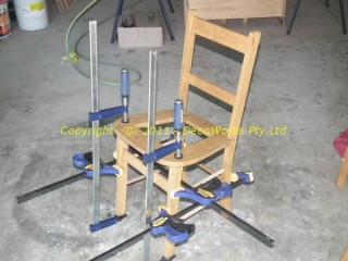 Wooden chairs final assembly