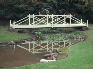 Restored creek bridge