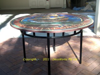 Ethel Rhind mosaic steel table base