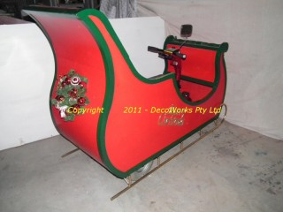 View of the rear of the completed sleigh