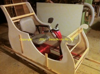 Preparing sleigh ends