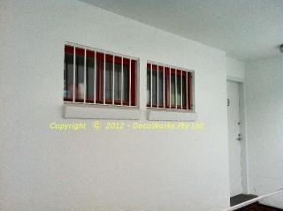 Window security bars for bathroom