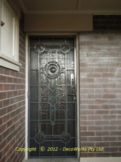 Strand Art Deco security door