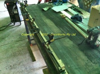 Making the double flat bar sections