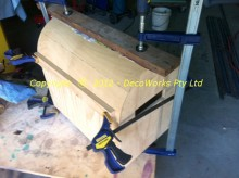 Clamping the Aircraft plywood around the top