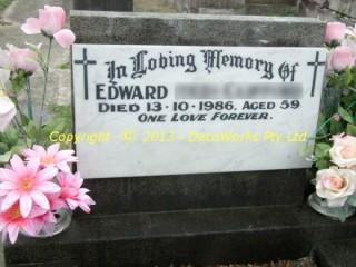 Refurbished headstone