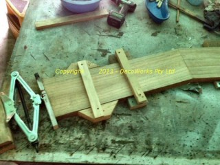 Clamping the dowel joints