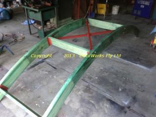 Main arch steel bracing