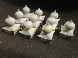 Oriental finial plaster castings