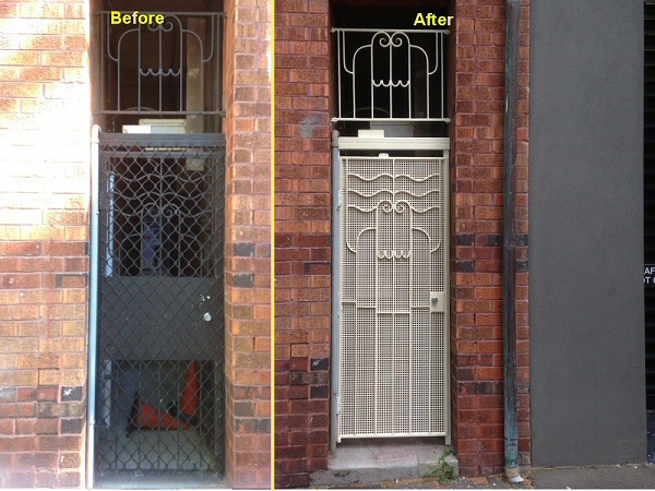 Art Deco security door restoration