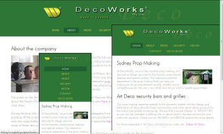 Decoworks responsive website images