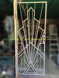 Undercoated Regal Art Deco security door