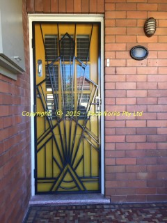 Regal Art Deco security door installation