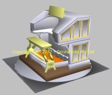 3D CAD model of the Orpheum Wurlitzer