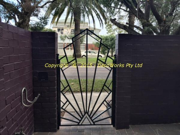 Art Deco Front Gate