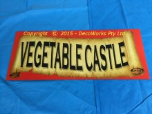 """Vegetable Castle"" sign"