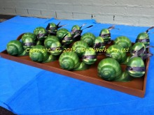 Wooden tray of Ninja Snails