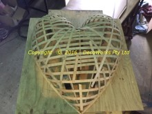 Heart shape in ply strips