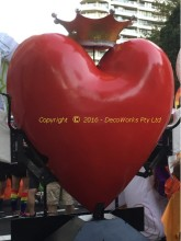 Completed giant fibreglass heart