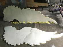 Foam covered wings