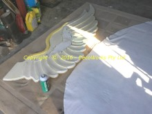 Glueing fleece fabric to wings