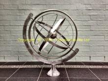 Stainless steel garden armillary sphere