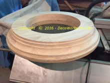 Routed timber rings