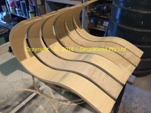 Completed crown sections ready for assembly
